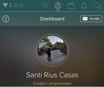 perfil de Santi Rius a VERO