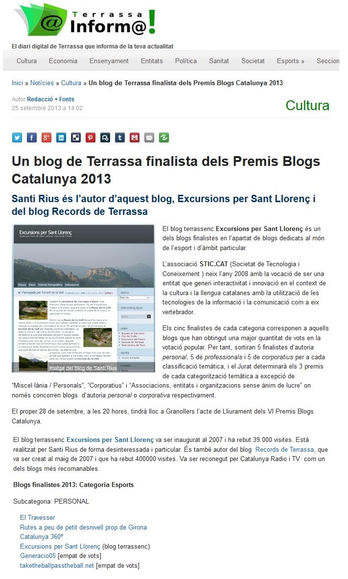 terrassa informa blog excursions sant llorenç