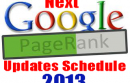 Google Pagerank Next Scheduled Update for 2013