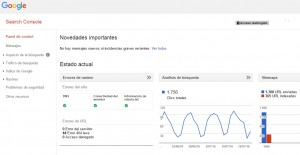 panell control google search console